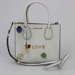 Michael Kors Mercer Love Medium Optic White Messenger - ONE COLOR - STYLE