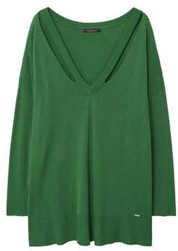 Violeta BY MANGO Neck cut-out sweater