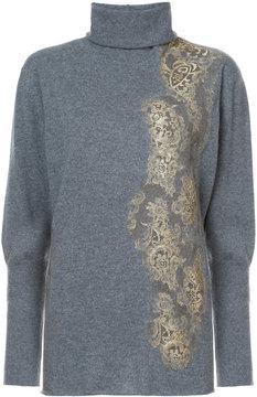 Fabiana Filippi embellished lace jumper