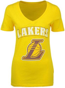 5th & Ocean Women's Los Angeles Lakers Mesh Logo T-Shirt
