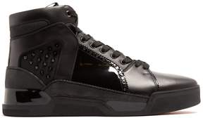 Christian Louboutin Loubikick spike high-top leather trainers