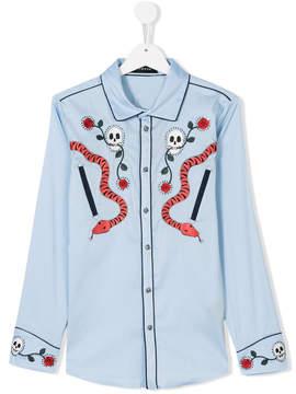 John Richmond Kids Heavenly embroidered shirt