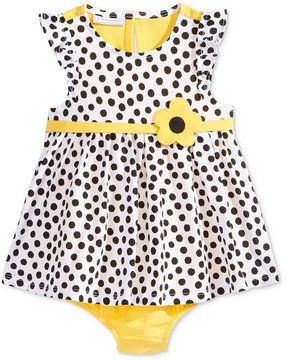 First Impressions Dot-Print Cotton Skirted Romper, Baby Girls (0-24 months), Created for Macy's
