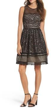 Eliza J Petite Women's Lace Fit & Flare Dress