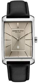 Kenneth Cole Mens Analog Leather Watch