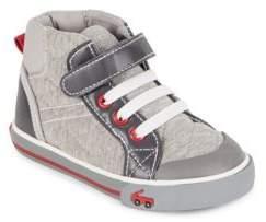 See Kai Run Dane Cotton Jersey High-Top Sneakers