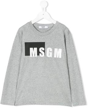 MSGM logo print longsleeved T-shirt