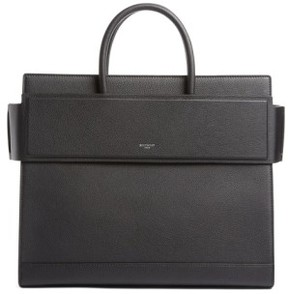 Givenchy Medium Horizon Grained Calfskin Leather Tote - Black