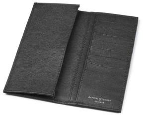 Aspinal of London Slim Breast Pocket Wallet In Black Saffiano