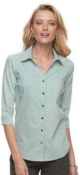 Croft & Barrow Women's Knit-to-Fit Shirt