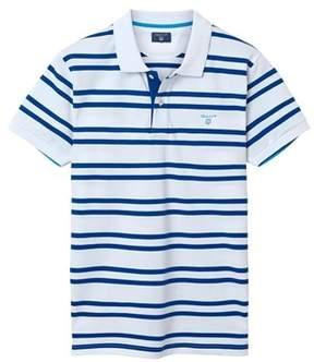 Gant Men's White Cotton Polo Shirt.
