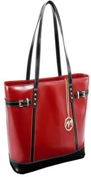 McKlein McKleinUSA SERAFINA, Ladies' Tote with Tablet Pocket, Top Grain Cowhide Leather, Red (97566)