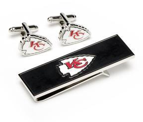 Ice Kansas City Chiefs Cufflinks and Money Clip Gift Set