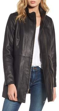 Cole Haan Women's Leather Car Coat