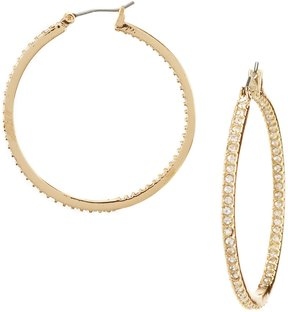 Cezanne Rhinestone Hoop Earrings