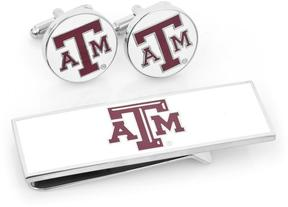 Ice Texas A&M Aggies Cufflinks and Money Clip Gift Set