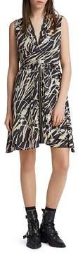 AllSaints Jayda Kazuno Zip-Front Dress