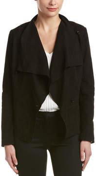 Bernardo Drape-Front Suede Jacket