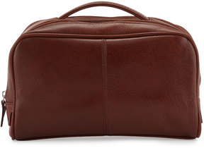 Neiman Marcus Leather Travel Bag, Brown