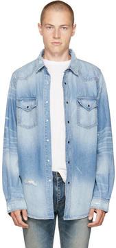 Amiri Indigo Denim Western Shirt