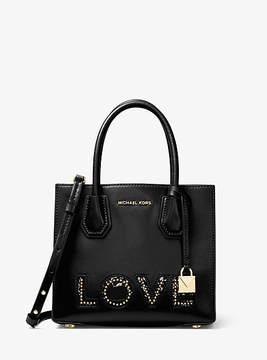Michael Kors Mercer Love Leather Crossbody - BLACK - STYLE