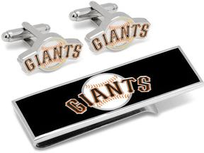 Ice San Francisco Giants Baseball Cufflinks and Money Clip Gift