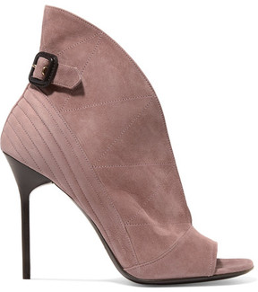 Burberry Suede Ankle Boots - Antique rose