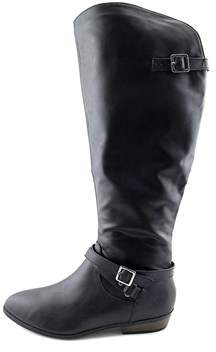 Material Girl Womens Capri Almond Toe Knee High Fashion Boots.