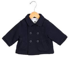 Petit Bateau Girls' Double-Breasted Collared Jacket