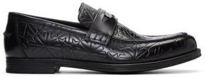 Jimmy Choo Black Star-Embossed Darblay Loafers
