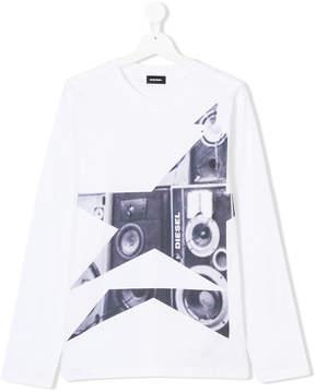 Diesel Teen speaker print T-shirt
