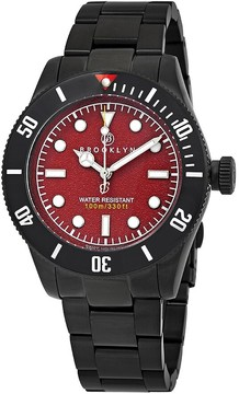 Co Brooklyn Watch Black Eyed Pea Red Dial Men's Watch