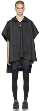 adidas x Kolor Black Coated Anorak Coat