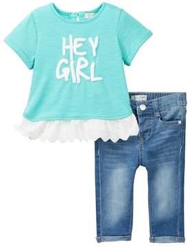 Jessica Simpson Hey Girl Top & Jeans (Baby Girls)