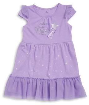 Petit Lem Little Girl's & Girl's Glitter Nightgown