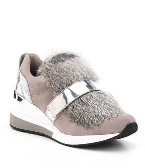 MICHAEL Michael Kors Maven Rabbit Fur Trainer Sneakers
