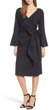 WAYF Women's Wrap Bell Sleeve Dress