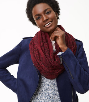 LOFT Floral Paisley Infinity Scarf