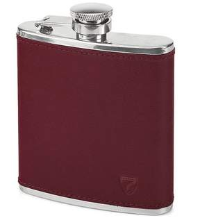 Aspinal of London Classic 5Oz Leather Hip Flask In Smooth Burgundy