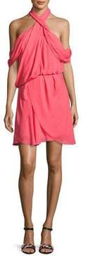 Camilla And Marc Lou Lou Draped Cold-Shoulder Cocktail Dress, Pink