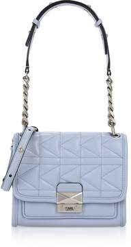 Karl Lagerfeld Mystic Blue K/Kuilted Mini Satchel Bag