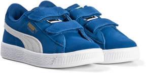 Puma Snorkel Blue Suede Velcro Trainers