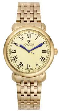 Croton Men's Heritage Goldtone Stainless Bracelet Watch with Champagne Dial
