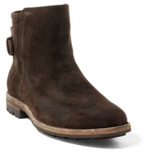 Ralph Lauren Myles Distressed Suede Boot Dark Brown 10
