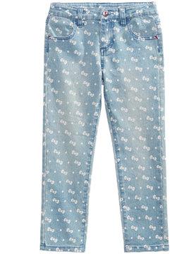 Hello Kitty Bow-Print Denim Pants, Little Girls (4-6X)