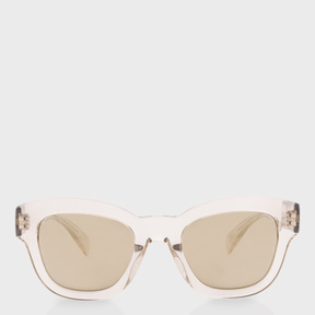 Paul Smith Clear Dune And Taupe Flash Mirror 'Dennett' Sunglasses