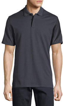 Ermenegildo Zegna Jacquard Silk-Blend Polo Shirt