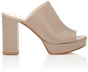 Barneys New York Women's Leather Platform Mules