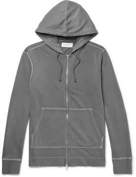 Officine Generale Loopback Cotton-Jersey Zip-Up Hoodie