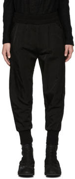 Julius Black Printed Nylon Trousers